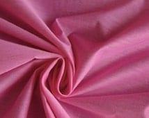 "Silk / Cotton batiste pink 44"" Wide by yard, by yardage"