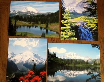 Set of 4 Photo notecards 5x7 -Mt. Rainier National Park