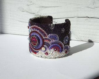 Venus Bead Embroidered Bracelet Cuff