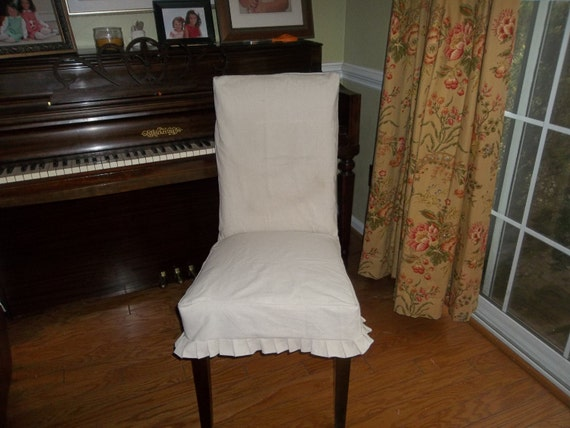 items similar to custom pleated dining chair seat covers in my fabric