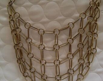 Unique Vintage Gold tone Necklace