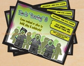 Kids Zombie Birthday Invitations Printable DIY File