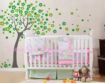 Wall Decals Cherry Blossom Tree wall decals nursery wall decals children girl baby wall decals wall sticker wall decor-DK004