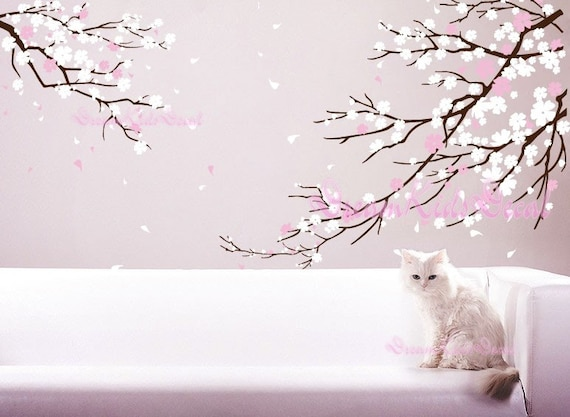 Wonderful Cherry Blossoms Wall Decal Wall Sticker Tree Decals DK006 Part 11