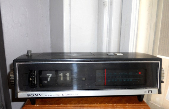 vintage sony digimatic sony flip alarm digital by faroutofsight. Black Bedroom Furniture Sets. Home Design Ideas