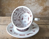 Tea Leaf Reading Cup and Saucer, Tasseomancy, Tasseography, Fortune Teller,  Cup and Saucer, Ready to Ship