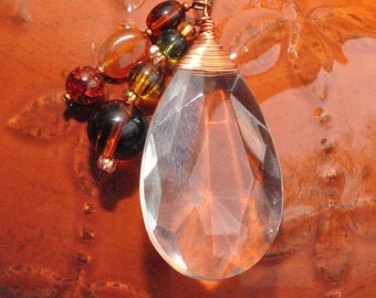Crystal Drop Pendant
