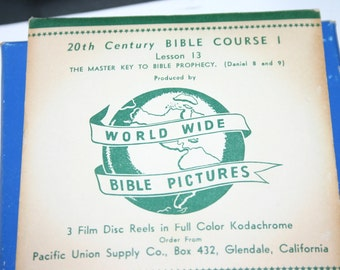 Viewmaster 2D film 20th Century Bible Course Reels 1951-56 color film disc reels, rare find