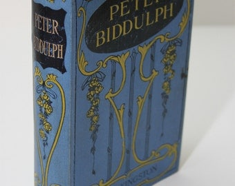 Peter Biddulph by W.H.G. Kingston 1881 Beautiful Cover Illustrated-About Australia settlers