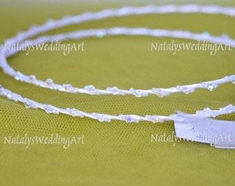 STEFANA Greek crowns Handmade White or Ivory Orthodox Wedding  Crowns / Stephana / Tiaras