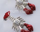 sterling silver 925 lobster earrings