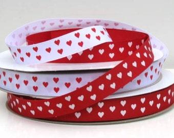 "7/8"" ValentineHearts Grosgrain Ribbon"