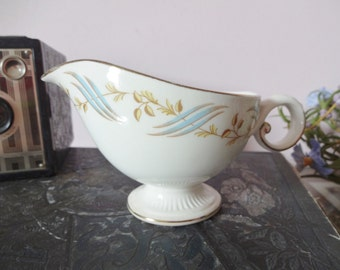 CREAMER GRAVY BOAT Vintage Cottage chic decor Creamer by Harmony House 1950's