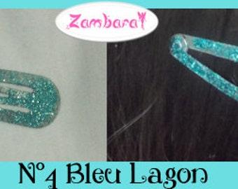 Hair Clips Glitter Lagoon Blue