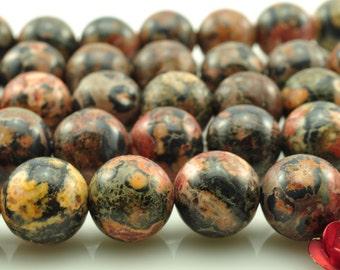 48 pcs of  Leopard Skin Jasper  round smooth round beads in 8mm