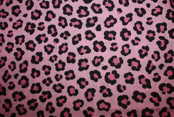 Hot PINK LEOPARD Print 98 X 72 Fabric by AbigailsDecor on Etsy