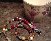 PURPLE beaded wrap bracelet and/or necklace