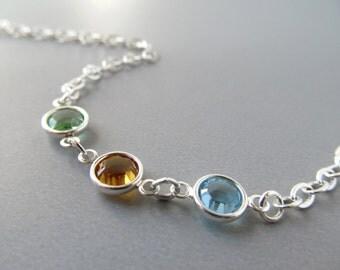 Silver Eyeglass Chain Holder - Aquamarine Blue - Eyeglasses Chain - Eyeglass Necklace - Reading Glasses Chain - Sunglasses Chain - Links