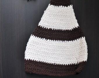 Brown and Cream Stripe Baby Newborn Hat Beanie Photo Prop
