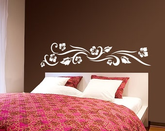 Flower Wall Decal Cute Vinyl Sticker Home Arts Floral Wall Decals WT019