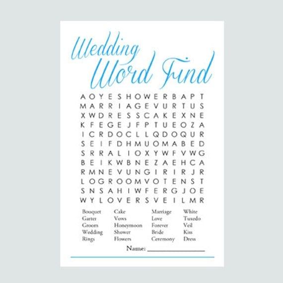 Wedding Word Search: Items Similar To Wedding Word Find