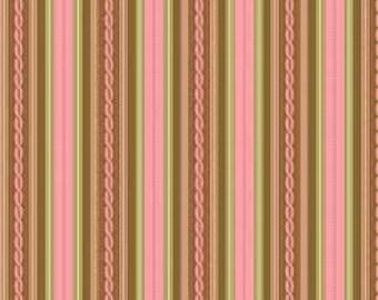 1/2 yard Nantucket Summer Cotton by Jody Taylor for Riley Blake pink stripe