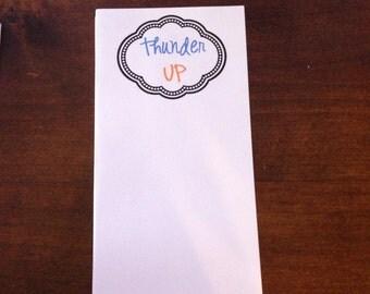 OKC Thunder Thunder Up Notepad