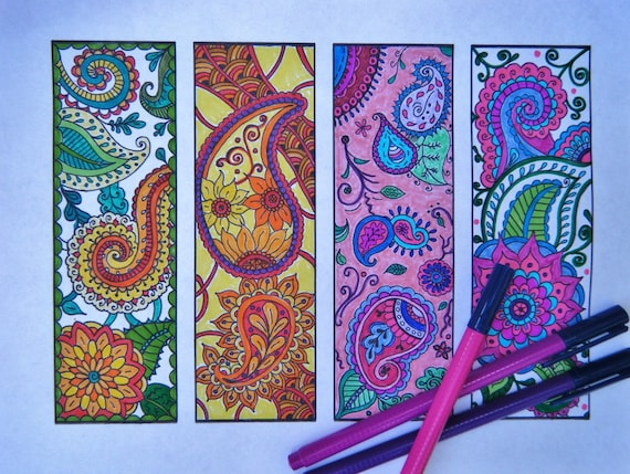 Paisley Bookmarks Printable Bookmark