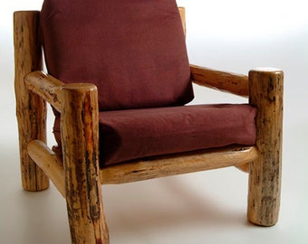Rustic log furniture Mountain Hewn Easy Chair