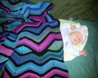 Round ripple afghan made to order