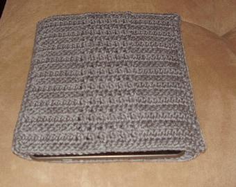 Crochet iPad / tablet case/sleeve - Grey