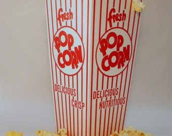 Retro Carnival Popcorn Boxes -  set of 12
