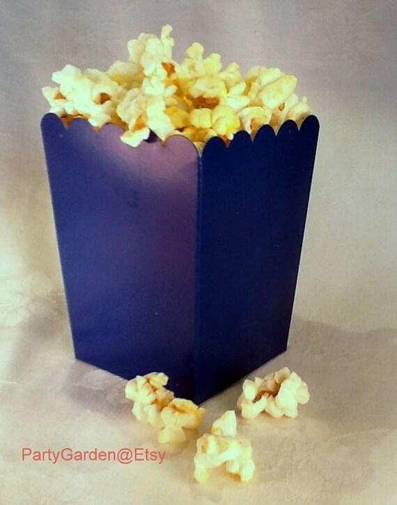 24 Mini Blue popcorn boxes treats favors