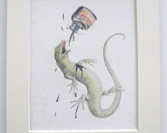 1916 1st Edition Alice in Wonderland Margaret Tarrant Print (Book Plate)
