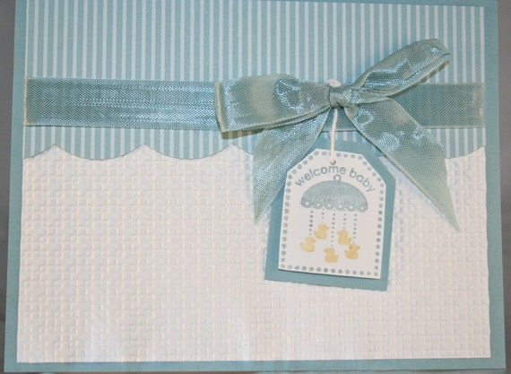 Items similar to Baby Card, Baby Boy Card, Handmade ...