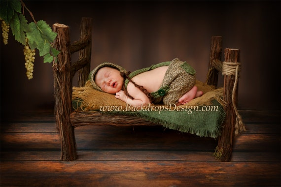 Log Bed And Matching Night Stand Newborn Prop Photography Prop