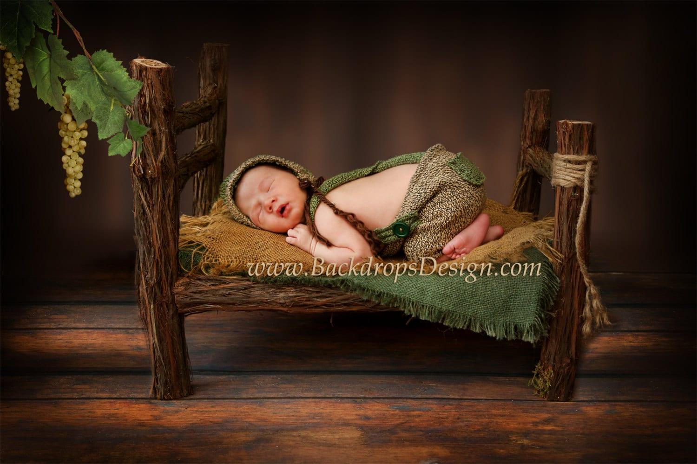 Photo Prop Log Bed Newborn Photography Prop Hand Made Wooden