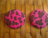 Extra Large Fabric Button Earrings-Pretty in Punk