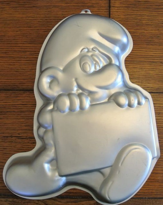Vintage Wilton Smurf Cake Pan By Caddiesandmore On Etsy