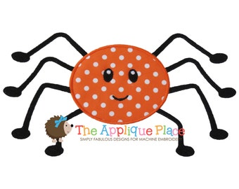 Spider Applique Design , Instant Digital Download File for Machine Embroidery , 4X4 5X7 6X10 in dst esp hus jef pes sew vip xxx