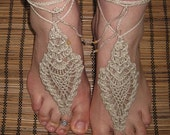 Barefoot Sandals Crochet Tropical Lady - INSTANT DOWNLOAD  PDF Pattern -
