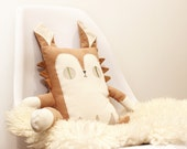 Cat Plush - Eco-Friendly - Upcycled Fabric - Accent Cushion - Decorative Throw Pillow - Handmade