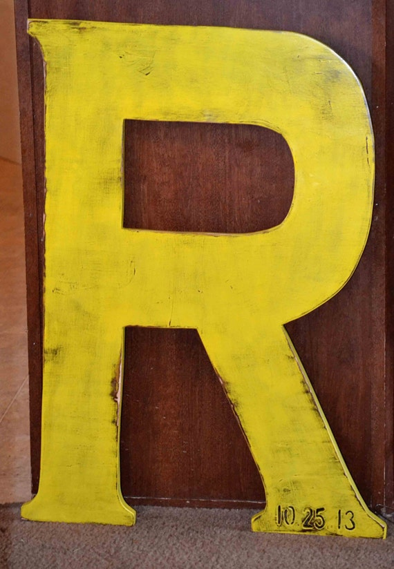 large wood letter 36 inch photo prop wooden by therusticspot With 36 inch wooden letters