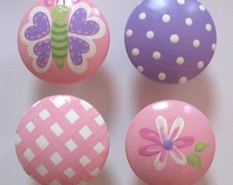 Kids Gracies Garden Drawer Knobs Nursery Cabinet Pulls
