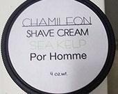 NEW Mens Shave Cream Soap Sea Kelp, Hair Removal, Moisturizing,Natural,Rich, Bentonite Clay,