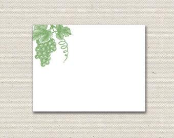 Grapevine Letterpress Notecards - Set of 5