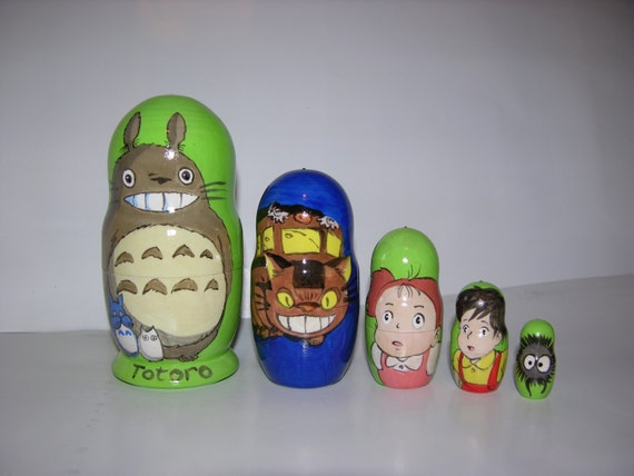 my neighbor totoro nesting dolls