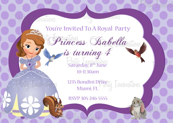 Sofia The First Birthday Card Gangcraft Net