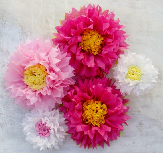 Tissue Paper Flowers - Pink and Baby Pink/ Perfect Decorations for ...