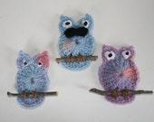 Hoot Owl Frig Magnets